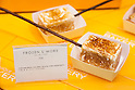 Frozen S'mores on display during the pre-opening event for the new pastry shop ''Dominique Ansel Bakery'' in Omotesando Hills on June 17, 2015, Tokyo, Japan. The new brand is known for its Cronuts pastry; a croissant doughnut fusion creation by Chef Dominique Ansel and is already hugely popular in New York. This is the first time that it will open an international branch. Japan has seen a recent boom in international food retailers especially trying to become the latest new trend in Tokyo. The store opens its doors to the public on June 20th and long lines are expected. (Photo by Rodrigo Reyes Marin/AFLO)