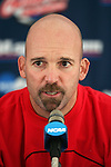08 December 2005: New Mexico head coach Jeremy Fishbein during a press conference at SAS Stadium in Cary, North Carolina in preparation for the NCAA Men's Division I College Cup semifinals to be played the following day.