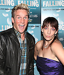 Julia Murney and Claybourne Elder attending the Off-Broadway Opening Night Performance After Party for 'Falling' at Knickerbocker Bar & Grill on October 15, 2012 in New York City.