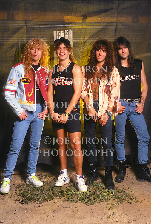 Various portrait sessions of the rock band, Firehouse