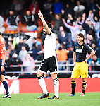 Valencia's  Alvaro Negredo celebrating his goal  during Spanish King's Cup match. January 6, 2016. (ALTERPHOTOS/Javier Comos)