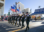 A photograph taken during the Veterans Day Parade in downtown Reno on Sunday, November 11, 2018.