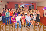 Sarah Goulding, Lisheen, Gneeveguilla, pictured with her parents Noreen and Sean, sister Lisa, boyfriend Eric Moynihan, family and friends as she celebrated her 21st birthday in the Gneeveguilla Club bar on Friday night..........