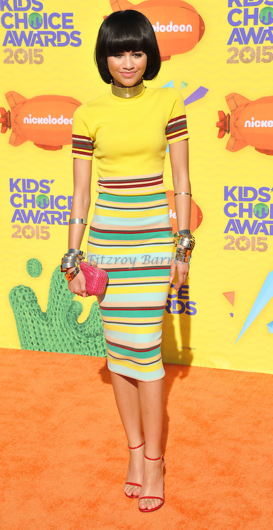 Zendaya arriving at Nickelodeon's 28th Kids' Choice Awards 2015, held at The Forum in Los Angeles Ca. March 28, 2015