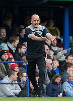 Manager Paul Cook of Portsmouth during the Sky Bet League 2 match between Portsmouth and Wycombe Wanderers at Fratton Park, Portsmouth, England on 23 April 2016. Photo by Andy Rowland.