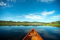 Canoeing the Clyde River in East Charleston, Vermont along the Northern Forest Canoe Trail.