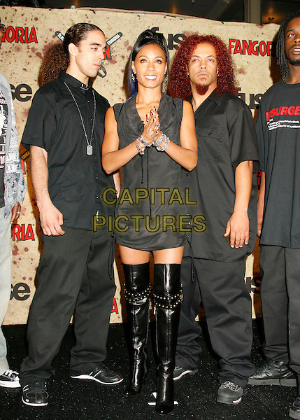 JADA PINKETT SMITH - WICKED WISDOM.Fuse Fangoria Chainsaw Awards held at The Orpheum Theatre, Los Angeles, California, USA..October 15th, 2006.Ref: ADM/RE.full length black boots dress hands together.www.capitalpictures.com.sales@capitalpictures.com.©Russ Elliot/AdMedia/Capital Pictures.