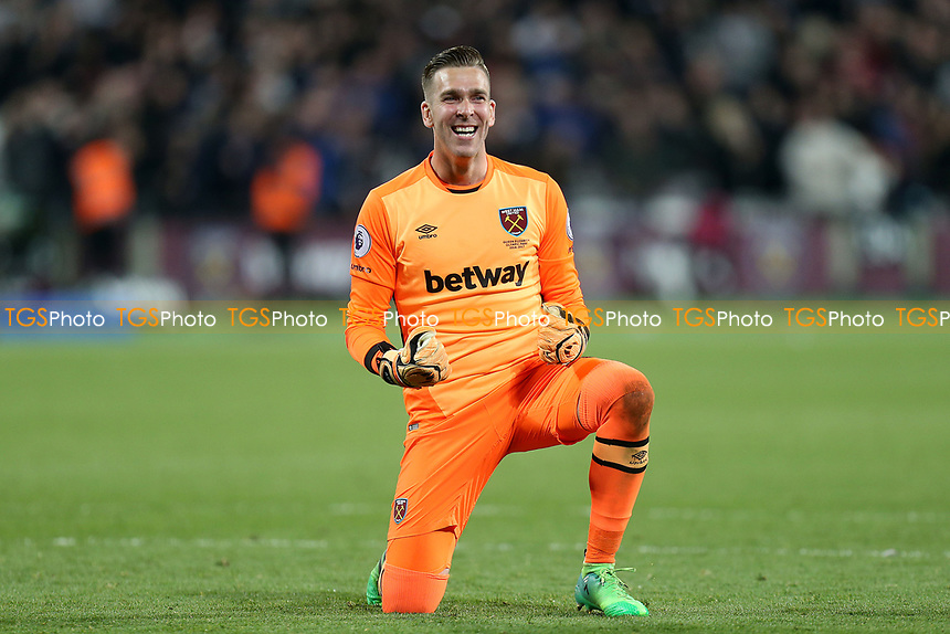 Adrian of West Ham United celebrates the victory after West Ham United vs Tottenham Hotspur, Premier League Football at The London Stadium on 5th May 2017