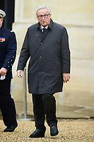 Jean Claude Juncker - President de la Commission europeenne<br /> Parigi 11-11-2018 <br /> Eliseo Pranzo Ufficiale Capi di Stato <br /> Commemorazione 100 anni dalla fine della Grande Guerra, Prima Guerra Mondiale <br /> Foto JB Autissier/Panoramic / Insidefoto