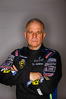 Feb 7, 2018; Pomona, CA, USA; NHRA funny car driver Tim Wilkerson poses for a portrait during media day at Auto Club Raceway at Pomona. Mandatory Credit: Mark J. Rebilas-USA TODAY Sports