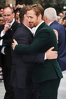 "Russell Crowe and Ryan Gosling<br /> arrives for the premiere of ""The Nice Guys"" at the Odeon Leicester Square, London.<br /> <br /> <br /> ©Ash Knotek  D3120  19/05/2016"
