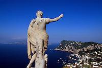 Hotel Caesar Augustus in Anacapri, Statue Augustus, Capri, Italien