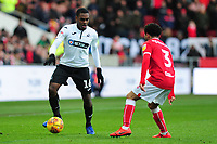 Barrie McKay of Swansea City battles with Jay Dasilva of Bristol City during the Sky Bet Championship match between Bristol City and Swansea City at Ashton Gate in Bristol, England, UK. Monday 02 February 2019