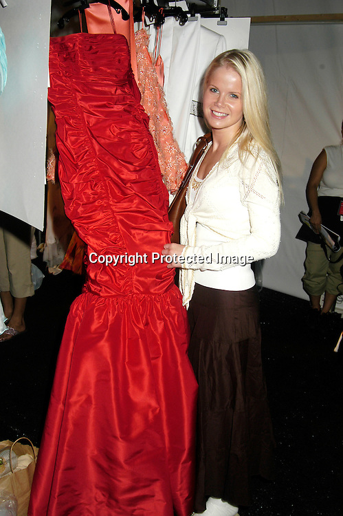 Crystal Hunt of Guiding Light                                 ..at The Pamella Roland Spring 2006 FAshion Show on ..September 13, 2005 at the Tents at Olympus Fasion Week. ..Photo by Robin Platzer, Twin Images