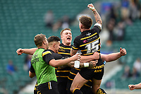 Matt Shepherd of Cornwall celebrates at the final whistle. Bill Beaumont County Championship Division 1 Final between Cheshire and Cornwall on June 2, 2019 at Twickenham Stadium in London, England. Photo by: Patrick Khachfe / Onside Images
