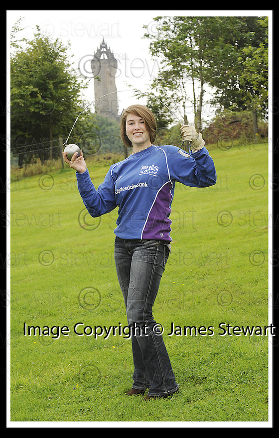 21/08/2008  Copyright Pic: James Stewart.File Name : sct_jspa03_commonwealth_youth.HAMMER THROWER MYRA PERKINS FROM FALKIRK WHO HAS BEEN CHOSEN TO REPRESENT SCOTLAND AT THE COMMONWEALTH YOUTH GAMES IN PUNE, INDIA IN OCTOBER....James Stewart Photo Agency 19 Carronlea Drive, Falkirk. FK2 8DN      Vat Reg No. 607 6932 25.Studio      : +44 (0)1324 611191 .Mobile      : +44 (0)7721 416997.E-mail  :  jim@jspa.co.uk.If you require further information then contact Jim Stewart on any of the numbers above........