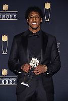 MIAMI, FL - FEBRUARY 1: New Orleans Saints' Michael Thomas with his AP Offensive Player of the Year at the 2020 NFL Honors at the Ziff Ballet Opera House during Super Bowl LIV week on February 1, 2020 in Miami, Florida. (Photo by Anthony Behar/Fox Sports/PictureGroup)