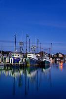 Quaint fishing village of Menemsha, Chilmark, Martha's Vineyard, Massachusetts