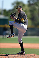 Pittsburgh Pirates pitcher Robby Rowland (81) during a minor league spring training intrasquad game on March 30, 2014 at Pirate City in Bradenton, Florida.  (Mike Janes/Four Seam Images)