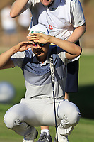 Haotong Li (CHN) on the 17th green during Saturday's Round 3 of the 2018 Turkish Airlines Open hosted by Regnum Carya Golf &amp; Spa Resort, Antalya, Turkey. 3rd November 2018.<br /> Picture: Eoin Clarke | Golffile<br /> <br /> <br /> All photos usage must carry mandatory copyright credit (&copy; Golffile | Eoin Clarke)