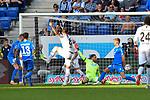 Luka Jovic (Eintracht Frankfurt #8) trifft das Tor zum 2:0 beim Spiel in der Fussball Bundesliga, TSG 1899 Hoffenheim - Eintracht Frankfurt.<br /> <br /> Foto &copy; PIX-Sportfotos *** Foto ist honorarpflichtig! *** Auf Anfrage in hoeherer Qualitaet/Aufloesung. Belegexemplar erbeten. Veroeffentlichung ausschliesslich fuer journalistisch-publizistische Zwecke. For editorial use only. DFL regulations prohibit any use of photographs as image sequences and/or quasi-video.