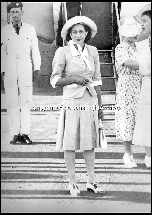 BNPS.co.uk (01202 558833)<br /> Pic: QueensFlightArchive<br /> <br /> Princess Margaret on the Royal tour to Africa in 1947.<br /> <br /> A new book gives an intimate look behind the scenes of the Royal Flight and also the flying Royals.<br /> <br /> Starting in 1917 the book charts in pictures the 100 year evolution of first the King's Flight and then later the Queen's Flight as well as the Royal families passion for aviation.<br /> <br /> Author Keith Wilson has had unprecedented access to the Queen's Flight Archives to provide a fascinating insight into both Royal and aeronautical history.