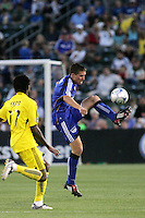 Matt Besler..Columbus Crew defeated Kansas City Wizards 2-0 at Community America Ballpark, Kansas  City, Kansas.