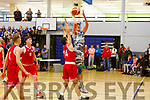 Garveys Daire Kennelly attempts to shoot for a basket against UCC in the U20 Basketball league in the Tralee Sports Complex on Sunday