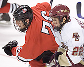 Joe Vitale, Dan Bertram - The Boston College Eagles defeated the Northeastern University Huskies 5-2 in the opening game of the 2006 Beanpot at TD Banknorth Garden in Boston, MA, on February 6, 2006.