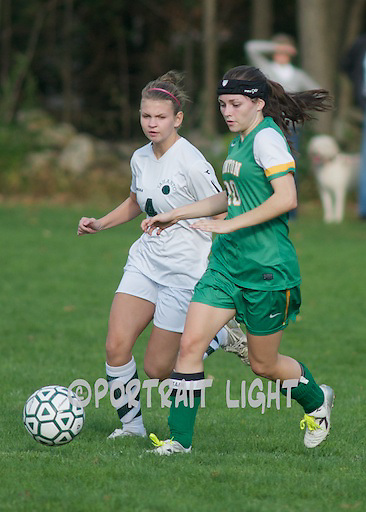 CHS senior captain Laura Hazel (right) and TRHS sophomore Katherine Keane.