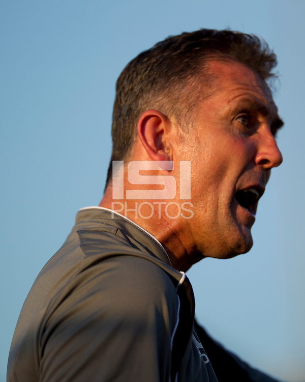 Bolton Wanderers coach Owen Coyle voices his displeasure with tthe referee.  The Charlotte Eagles currently in 3rd place in the USL second division played a friendly against the Bolton Wanderers from the English Premier League losing 3-0.