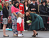 "KATE'S PRESENTS SHAMROCKS TO IRISH GUARDS.The Duchess of Cambridge presented shamrocks to members of 1 Irish Guards at Mons Barracks in Aldershot to mark the occasion of St Patricks Day_17/03/2012.Picture Shows: Kate receiving a  posy from 5-year-old Isabella Stevenson, the daughter of Drill Sergeant Stevenson.Mandatory Credit Photo: ©A Baskerville/NEWSPIX INTERNATIONAL..**ALL FEES PAYABLE TO: ""NEWSPIX INTERNATIONAL""**..IMMEDIATE CONFIRMATION OF USAGE REQUIRED:.Newspix International, 31 Chinnery Hill, Bishop's Stortford, ENGLAND CM23 3PS.Tel:+441279 324672  ; Fax: +441279656877.Mobile:  07775681153.e-mail: info@newspixinternational.co.uk"