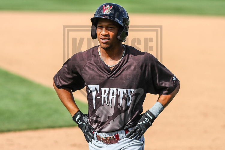 BELOIT - September 2014: Johnny Davis (9) of the Wisconsin Timber Rattlers during a game against the Beloit Snappers on September 1st, 2014 at Pohlman Field in Beloit, Wisconsin.  (Photo Credit: Brad Krause)