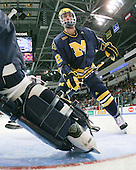 Greg Pateryn (Michigan - 2) - The Boston University Terriers defeated the University of Michigan Wolverines 3-2 on Saturday, October 24, 2009, at Agganis Arena in Boston, Massachusetts.