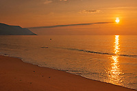 Sunrise on Aspy Bay (Cabot Strait - Atlantic Ocean). Cape Breton Island.<br />