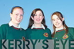 STUDENT AWARDS: Causeway Comprehensive School students who attended their awards night on Thursday night l-r: Rebbecca Molyneaux, Sharon McMahon and Jenifer Conway.   Copyright Kerry's Eye 2008