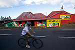 small shops and bar in the south of Reunion island