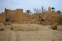 Skoura, Morocco - Marabout Ruin, Irrigated Fields Abandoned Because of Drought.