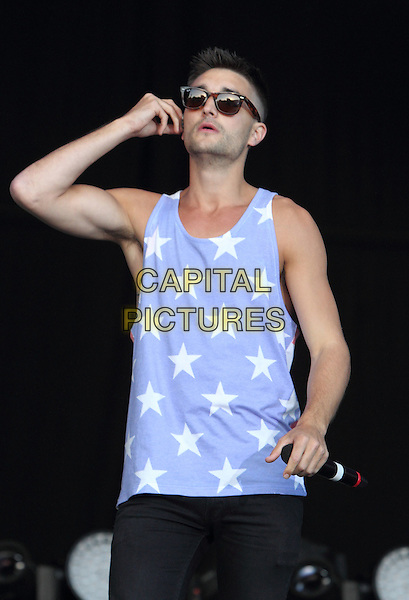 BIRMINGHAM, UNITED KINGDOM - AUGUST 31: The Wanted -  Tom Parker performs during day 2 of Fusion Festival 2014 on August 31, 2014 in Birmingham, England.<br /> CAP/ROS<br /> &copy;Steve Ross/Capital Pictures