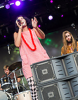 Jessica Hernandez and the Deltas at Voodoo Fest 2015.