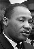 Washington, DC - (FILE) -- Dr. Martin Luther King, Jr.  speaks to reporters after a meeting at The White House circa 1963..Credit: Arnie Sachs - CNP