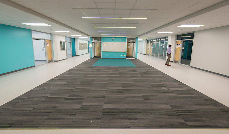 Construction update at the new DeBakey High School for Health Professionals, December 13, 2016.