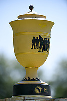 The WGC Fedex St. Jude Invitational trophy on display during the 1st round at the WGC Fedex, TPC Southwinds, Memphis, Tennessee, USA. 25/07/2019.<br /> Picture Ken Murray / Golffile.ie<br /> <br /> All photo usage must carry mandatory copyright credit (© Golffile | Ken Murray)