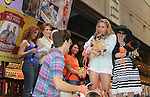 """Kerry Butler, Aaron Tveit, Bernadette Peters, Mary Tyler Moore - Broadway Barks Lucky 13th Annual Adopt-a-thon - A """"Pawpular"""" Star-studded dog and cat adopt-a-thon on July 9, 2011 in Shubert Alley, New York City, New York with Bernadette Peters and Mary Tyler Moore as hosts.  (Photo by Sue Coflin/Max Photos)"""