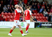 Fleetwood Town's Paddy Madden celebrates scoring the opening goal  <br /> <br /> Photographer Rich Linley/CameraSport<br /> <br /> The EFL Sky Bet League One - Fleetwood Town v Oxford United - Saturday 7th September 2019 - Highbury Stadium - Fleetwood<br /> <br /> World Copyright © 2019 CameraSport. All rights reserved. 43 Linden Ave. Countesthorpe. Leicester. England. LE8 5PG - Tel: +44 (0) 116 277 4147 - admin@camerasport.com - www.camerasport.com