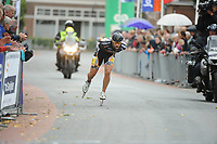 INLINESKATEN: HALLUM: 19-08-2017, Bartlehiem Skeelertocht, winnaar Crispijn Ariëns, ©foto Martin de Jong