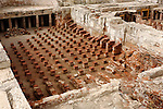 Travel stock photo of Remains of ancient roman public steam baths Thermae 50 BC - 100 AD Northeastern Unit The Archaeological Site of Kourion in Cyprus 2007 Horizontal