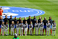 Harrison, NJ - Sunday March 04, 2018: France, SheBelieves escort kids during a 2018 SheBelieves Cup match match between the women's national teams of the United States (USA) and France (FRA) at Red Bull Arena.