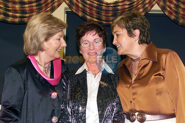 Pat Madigan and Marie Wrixon with Ladt Captain Centre Margaret Spellman at the Lady Captains Dinner in Laytown & Bettystown Golf Club..Picture Fran Caffrey Newsfile.
