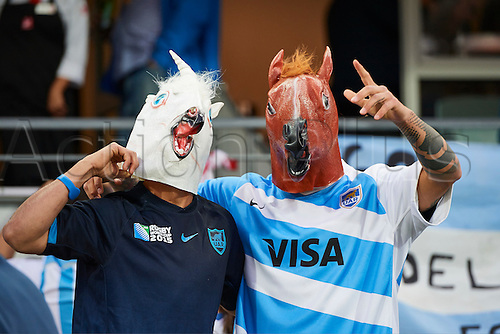 17.09.2016. Perth, Australia.  Argentinean fans during the Rugby Championship test match between the Australian Qantas Wallabies and Argentina's Los Pumas from NIB Stadium - Saturday 17th September 2016 in Perth, Australia.